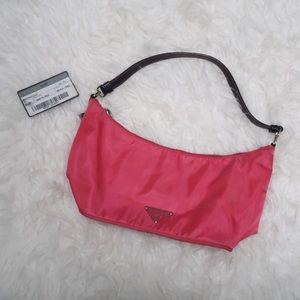 Prada Tessuto Sirio Peonia Pink Shoulder Bag